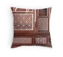 Gate of the Mausoleum of Itmad-ud-Daula, Agra Throw Pillow