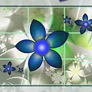 Blue Flowers in the Window by plunder