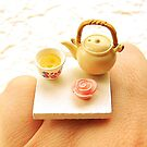 Tea Cup And Pot Ring  by souzoucreations