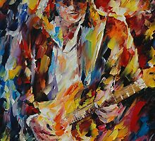STEVE VAUGHAN  - original oil painting on canvas by Leonid Afremov by Leonid  Afremov
