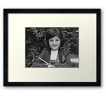 When I was 5 years old Framed Print
