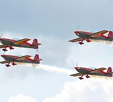 Royal Jordanian Falcons - RAF Waddington Airshow 2011 by merlin676