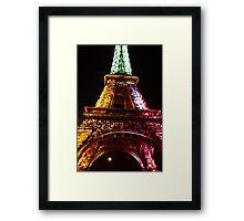Parisian Mosaic - Piece 21 - The Eiffel Tower Night Light Framed Print