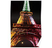 Parisian Mosaic - Piece 21 - The Eiffel Tower Night Light Poster