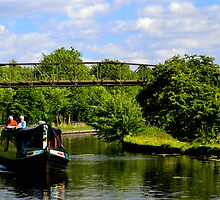 River Barge On The Canal by SparklesDarkly