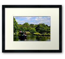 River Barge On The Canal Framed Print