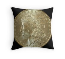 1888 Coin Throw Pillow
