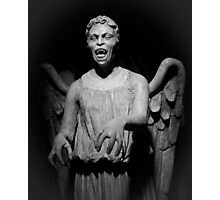 Doctor Who - Don't blink, whatever you do, don't blink Photographic Print