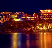 Night  in Nantasket Beach  by LudaNayvelt