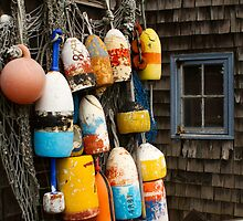 Lobster Buoys by Mark Van Scyoc
