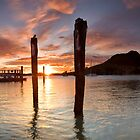 Salisbury Wharf Peach Dusk by Ken Wright