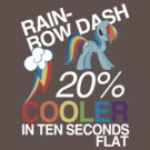Rainbow Dash. 20% Cooler in Ten Seconds Flat. by hbah427