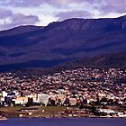 Rosny HillView to Hobart &amp; Mt Wellington by Brett Rogers