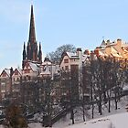 Ramsay Gardens in Winter, Edinburgh, Scotland by asm1