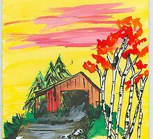 barnyard in fall by wormink