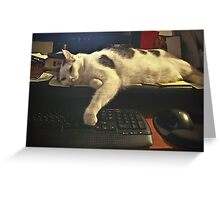 Too Tired to Finish the Email Greeting Card