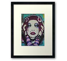 Goth Girl Framed Print