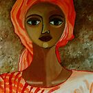 Woman with turban by Madalena Lobao-Tello