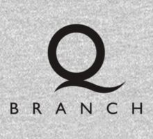 Q Branch Black Logo Kids Clothes