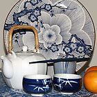 Blue and white and oranges by Fizzgig7