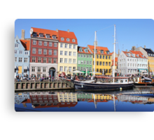 Nyhavn area in Copenhagen, Denmark Canvas Print