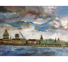 Annapolis Skyline before Hurricane Irene Photographic Print