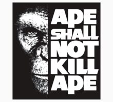 Ape Shall Not Kill Ape (Decal) by BiggStankDogg