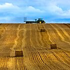 """The Tractor""    Chicheley Hill by James  Key"