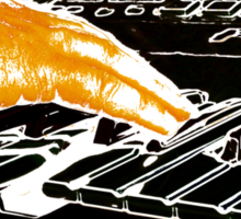 Playing Keyboard Sticker