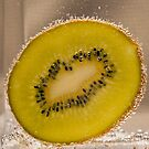 Kiwi Fruit With Bubbles by Malcolm Katon