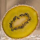 Kiwi Fruit With Bubbles by Malcolm Katon