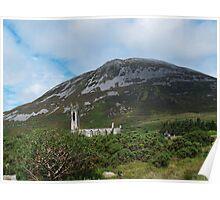 St John's Church and Errigal Mountain Poster