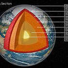 Earth - Cross Section by Adam Dorman