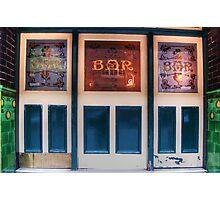 Bar Door (In Colour)  Photographic Print