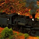 Canyon Train by Jerry L. Barrett