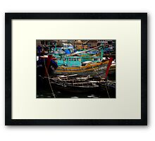 Vietnam fishing boats Framed Print