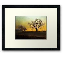 Daybreak on the Farm Framed Print