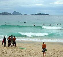 Ipanema beach, Brazil by Maggie Hegarty