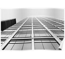 Looking up in London in B&W Poster