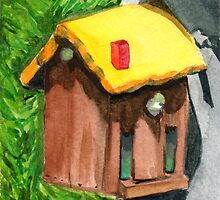 Tallac Birdhouse 4 by Amy-Elyse Neer