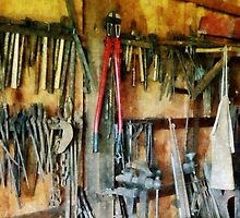 Wall of Tools With Shop Apron by Susan Savad