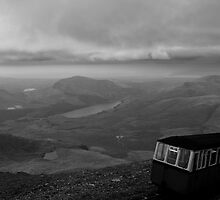 Snowdon Mountain Railway and view from Mt Snowdon by Jonathan Marsh