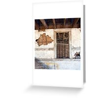 Window to the Past Greeting Card
