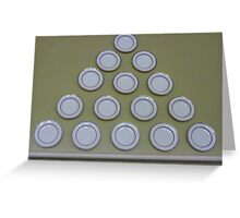 Plate pyramid. Greeting Card
