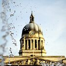 Nottingham Council House, seen through the fountains by jrsisson