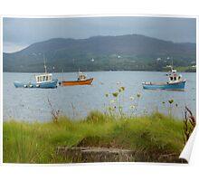 Fishing boats at Milford Poster