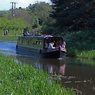 Narrow Boat on the Union Canal by Tom Gomez