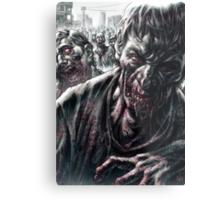 Zombie Horde Metal Print