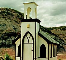 The Little Church, near Drumheller, Alberta, Canada  by Adrian Paul