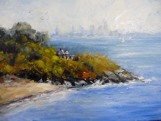 The coast of Werribee South (Victoria Australia) by Ivana Pinaffo